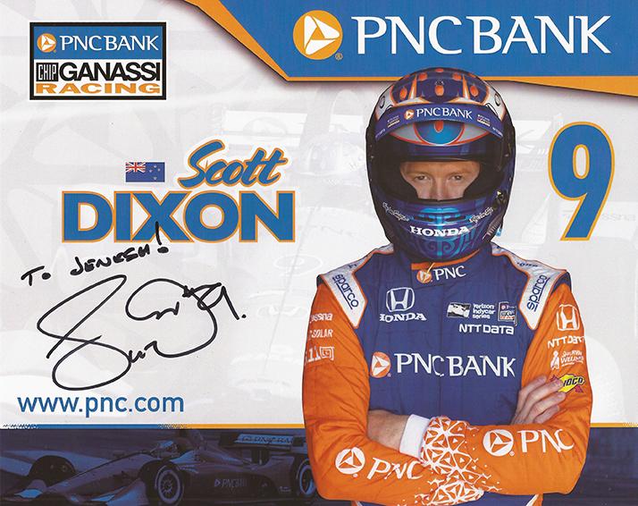 Signed Scott Dixon IndyCar Card
