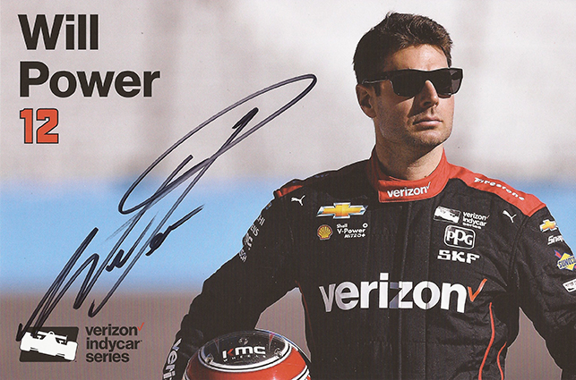 Signed IndyCar Will Power Card