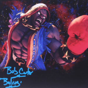 Verified Insignia Authentic Autographed Street Fighter Bob Carter Balrog Photo