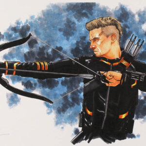 Verified Insignia Authentic Autographed Hawkeye Lithograph