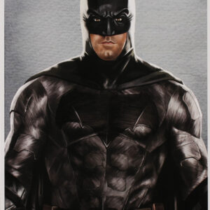 Verified Insignia Authentic Autographed Tony Santiago Batman Lithograph