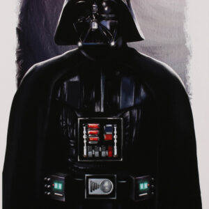 Verified Insignia Authentic Autographed Tony Santiago Darth Vader Lithograph