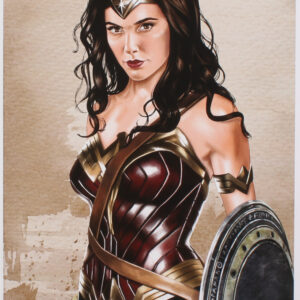 Verified Insignia Authentic Autographed - Tony Santiago - Wonder Woman - Lithograph